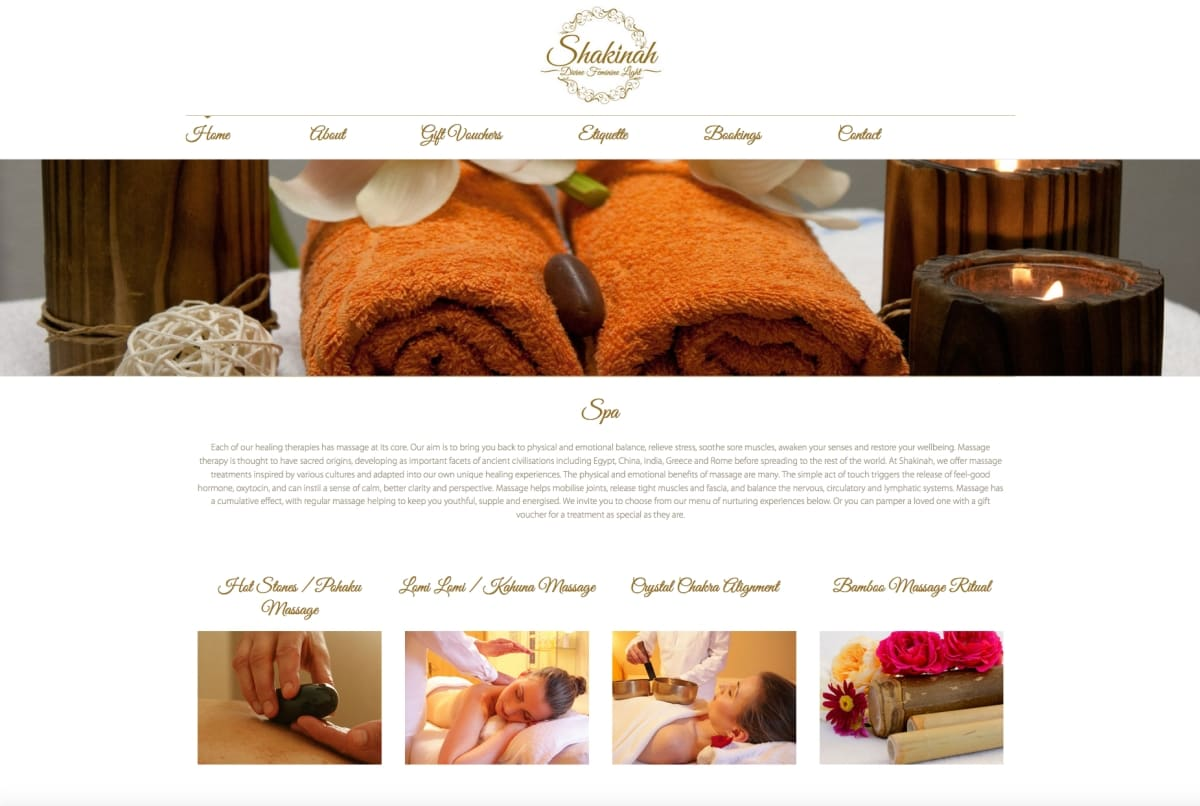 Shakinah Day Spa web copy
