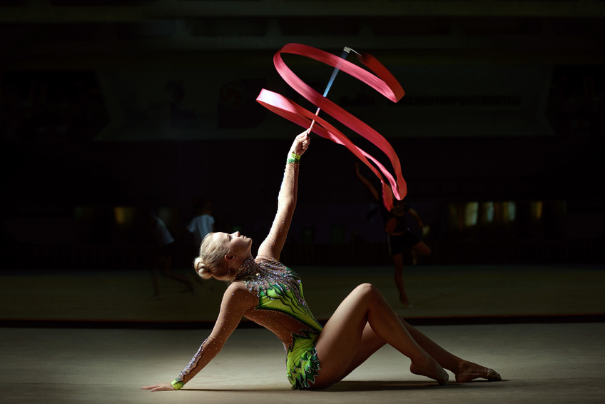 Rhythmic gymnast solo business