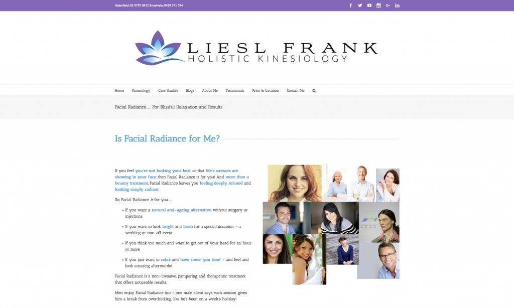 Liesl Frank facial radiance web copy