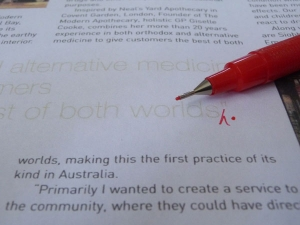 proofreading red 600