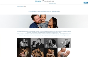 Image Technique Family page web copy