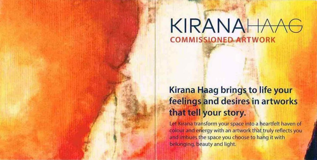 Kirana Haag Commissions brochure cover