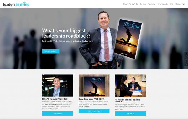 Leaders in Mind website copywriting